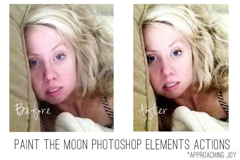 Beforeandafterpaintthemoonphotoshopelementsactions